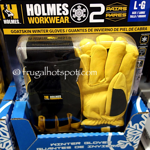 Mike Holmes Workwear Goatskin Winter Gloves 2-Pairs Costco | Frugal Hotspot