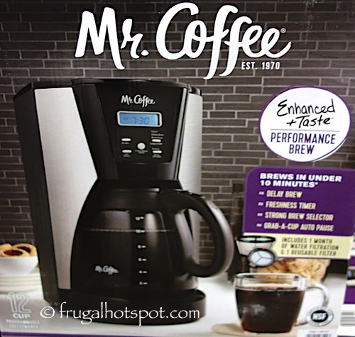 mr coffee 12cup coffee maker costco frugal hotspot
