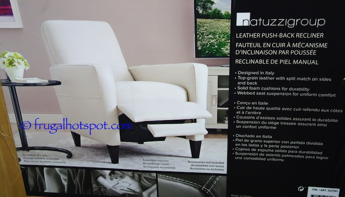Top-grain leather with split match on sides and back u2022 Solid foam cushions u2022 Webbed seat suspension u2022 Assembly required u2022 Made in China & Costco: Natuzzigroup Leather Push-Back Recliner $499.99 | Frugal ... islam-shia.org