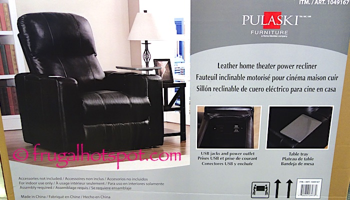 Pulaski Furniture Leather Home Theater Power Recliner Costco | Frugal Hotspot & Costco Sale: Pulaski Furniture Leather Home Theater Power Recliner ... islam-shia.org