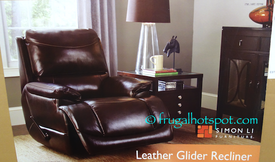 100% Top grain leather on all seating areas with matching bonded leather on sides and back panels u2022 Full chaise pad seating creates total body support ... & Costco Sale: Simon Li Furniture Leather Glider Recliner $319.99 ... islam-shia.org