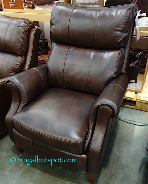 Costco Furniture Coupons: Synergy Home Leather Pushback Recliner
