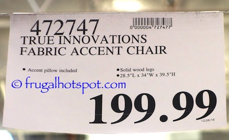 Marvelous True Innovations Fabric Accent Chair Costco Price Frugal Dailytribune Chair Design For Home Dailytribuneorg