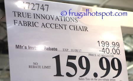 Fantastic Costco Sale True Innovations Fabric Accent Chair 159 99 Dailytribune Chair Design For Home Dailytribuneorg