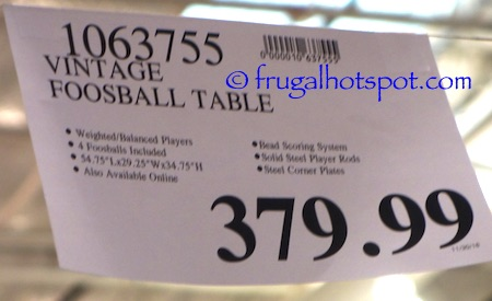 Vintage Foosball Table Costco Price | frugal Hotspot