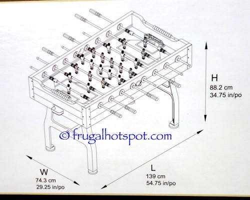 Vintage Foosball Table Dimensions | Costco | Frugal Hotspot .