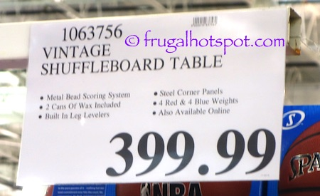 Vintage Shuffleboard Table Costco Price | Frugal Hotspot