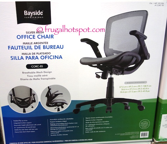 Costco Bayside Furnishings Metrex Iii Silver Mesh Office Chair 74 99 Frugal Hotspot