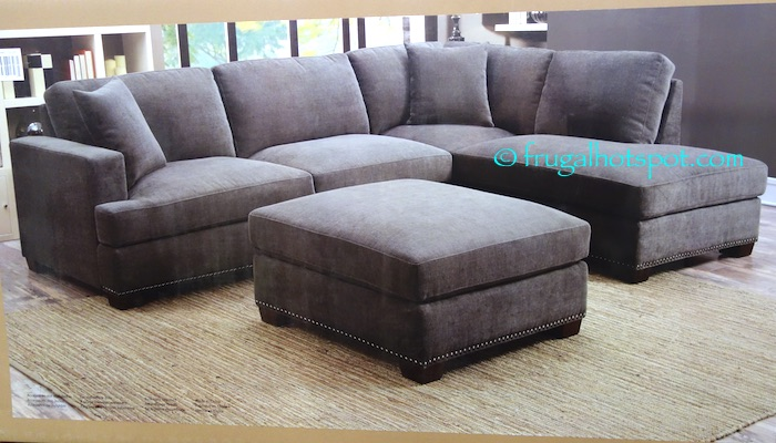 Costco Bainbridge 3-Pc Fabric Sectional $899.99 : sectionals at costco - Sectionals, Sofas & Couches