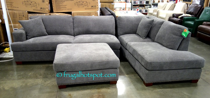 Couch Dimensions 120.8 in. W x 35 in. H x 81.4 in. D (307 cm W x 88.9 cm H x 207 cm D) The chaise part of the couch is 38.3 in. W (of the 120.8 in.). : costco sectional - Sectionals, Sofas & Couches