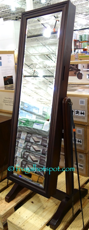 Costco Universal Broadmoore Cheval Mirror with Jewelry Storage