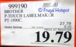 Costco Sale Price: Brother P-Touch Label Maker PT-1890C