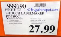 Costco Price: Brother P-Touch Label Maker PT-1890C