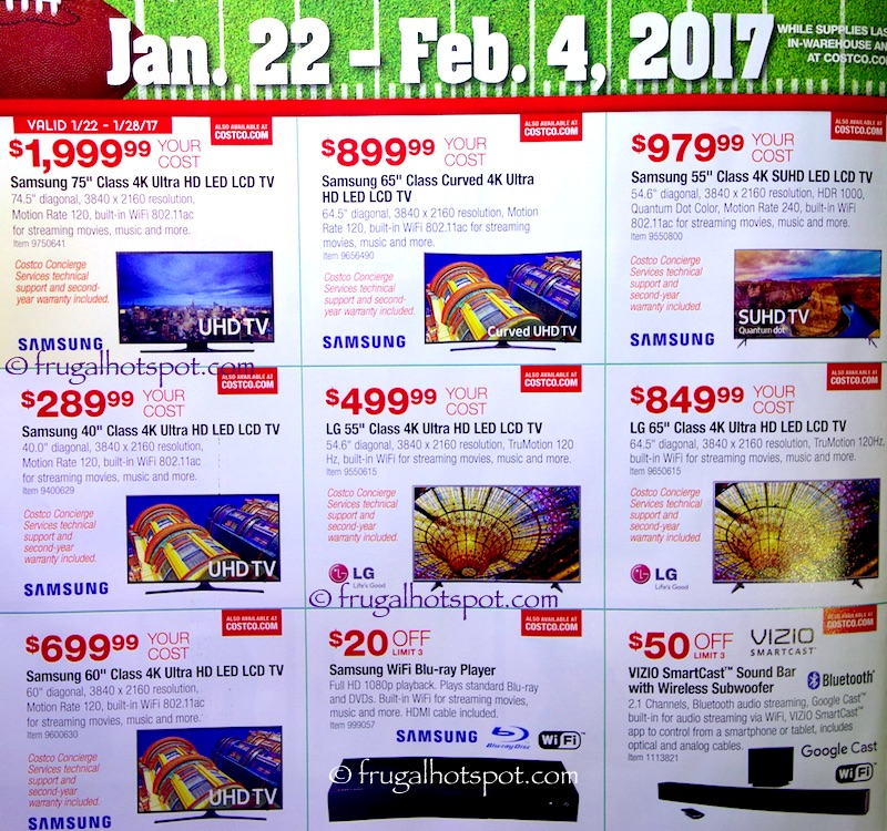 Costco Big Game Savings Coupon Book: Jan. 22, 2017