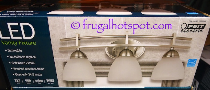 Features • dimmable • no bulbs to replace • brushed stainless finish