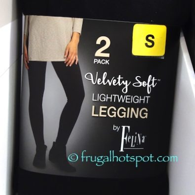 Felina Velvety Soft Lightweight Black Leggings 2-Pack at Costco