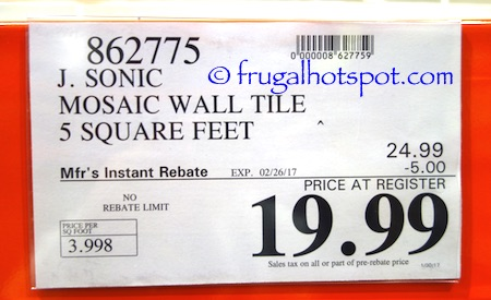 Costco Sale Golden Select Everest Mosaic Wall Tile 19 99