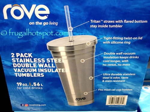 73f325d24da Costco Sale: Rove Stainless Steel Insulated Tumbler 2-Pk $12.99 ...