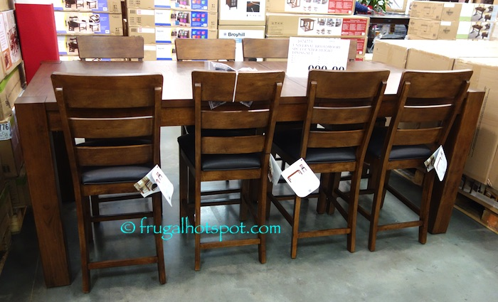 costco sale universal broadmoore 9 pc counter height dining set