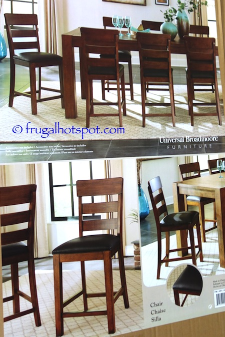 Counter Height Dining Chair Features: U2022 Rubberwood Solids U2022 Bonded Leather  Seats U2022 Protective Metal Caps On Front Stretchers U2022 Protective Floor Glides