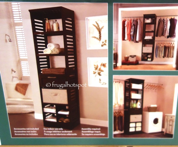 Exceptionnel Whatu0027s Included: (1) Wood Tower (1) Storage Drawer With Full Extension  Glides (1) Four Cubby Shoe Organizer (1) Fabric Tote With Handles