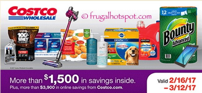 Costco Coupon Book: February 16, 2017 – March 12, 2017. Prices Listed.
