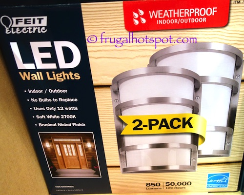 Costco Sale: Feit Electric LED Wall Sconce 2-Pk $33.99