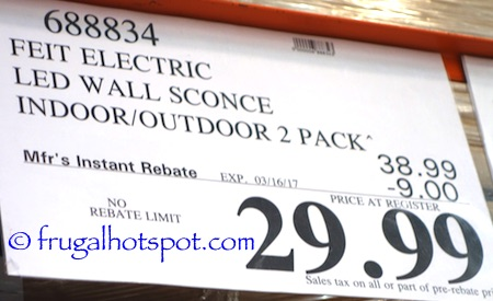 Costco Sale: Feit Electric LED Wall Sconce 2-Pk $33.99 | Frugal Hotspot