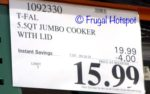 Costco Sale Price: T-fal Non-stick Jumbo Cooker