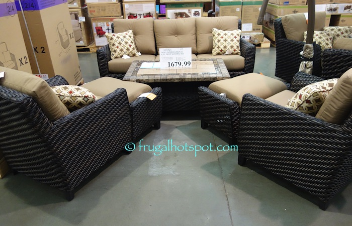 Costco Agio International 6 Pc Woven Seating Group 1 679