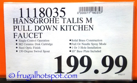 Costco Sale Hansgrohe Talis M Pull Down Kitchen Faucet - Hansgrohe talis m pull down kitchen faucet