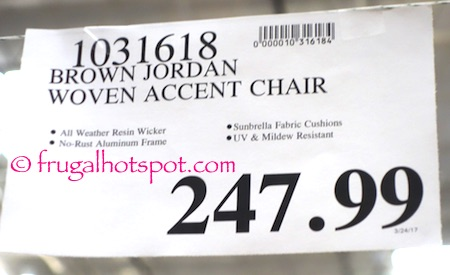 Fantastic Costco Sale Studio By Brown Jordan Woven Accent Chair Pabps2019 Chair Design Images Pabps2019Com