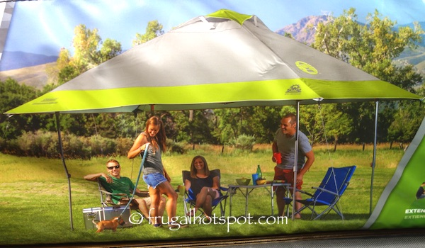 13 ft x 13 ft (4 m x 4 m) Center height 9 ft 7 in (2.9 m) & Costco: Coleman Instant Eaved Shelter 13u0027 x 13u0027 $119.99 | Frugal ...