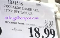 Costco Sale Price: Coolaroo Ready-To-Hang Shade Sail