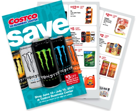 Costco Business Center Coupon Book: June 15, 2017 - July 15, 2017.