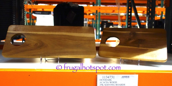 Denmark Acacia Wood Serving Boards 2-Pack Costco