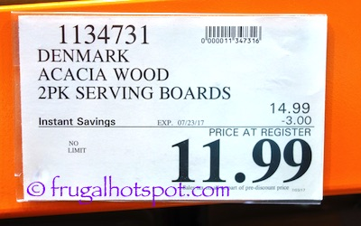 Denmark Acacia Wood Serving Boards 2-Pack Costco Sale Price