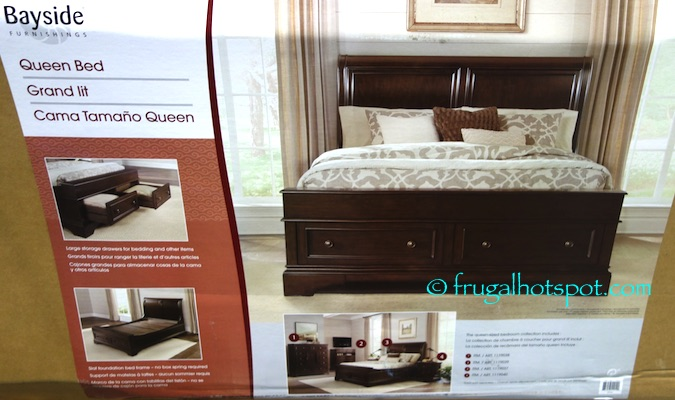Costco Bayside Furnishings Queen Storage Bed 599 99
