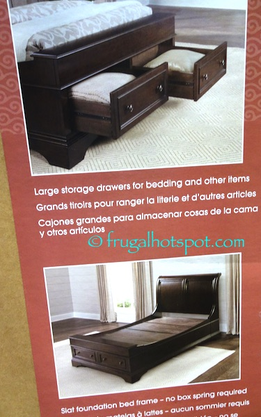 Costco: Bayside Furnishings Queen Storage Bed $599.99 ...