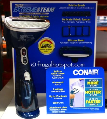 Conair Turbo Extreme Steam Handheld Fabric Steamer at Costco