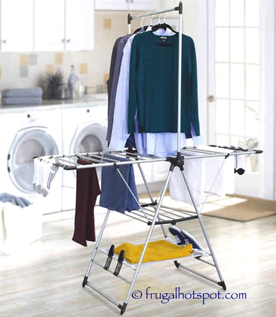 watch stainless clothes gullwing folding rack steel ohuhu duty drying heavy laundry foldable