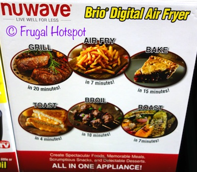 circulates hot air evenly u2022 fry pan basket with stainless steel rack to provide extra crispy results u2022 digital touch screen panel - Nuwave Air Fryer
