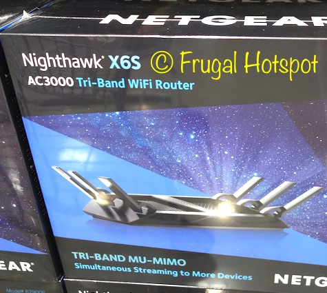 Netgear Nighthawk X6S AC3000 Tri-Band WiFi Router at Costco