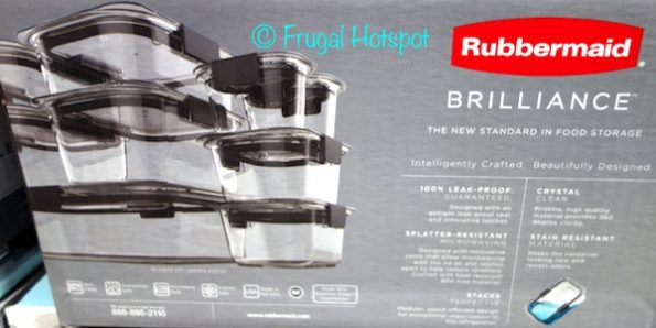 Rubbermaid Brilliance 18-Piece Food Storage Set at Costco