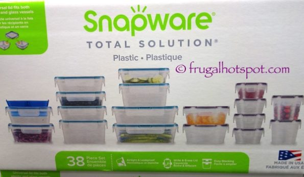 Snapware 38-Piece Plastic Food Storage Set at Costco