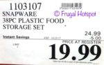 Costco Sale Price: Snapware 38-Piece Plastic Food Storage Set