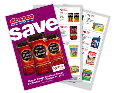 Costco Business Center Coupon Book: September 18, 2017 – October 14, 2017. Prices Listed.