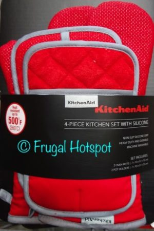 KitchenAid 2 Oven Mitts + 2 Pot Holders Set at Costco