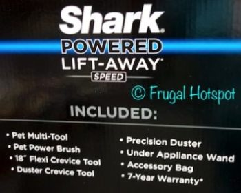 Description of Shark Powered Lift-Away Speed Upright Vacuum at Costco