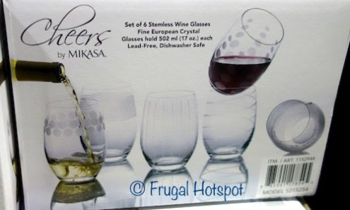 Mikasa Cheers Stemless Wine Glasses 6-Piece Set at Costco